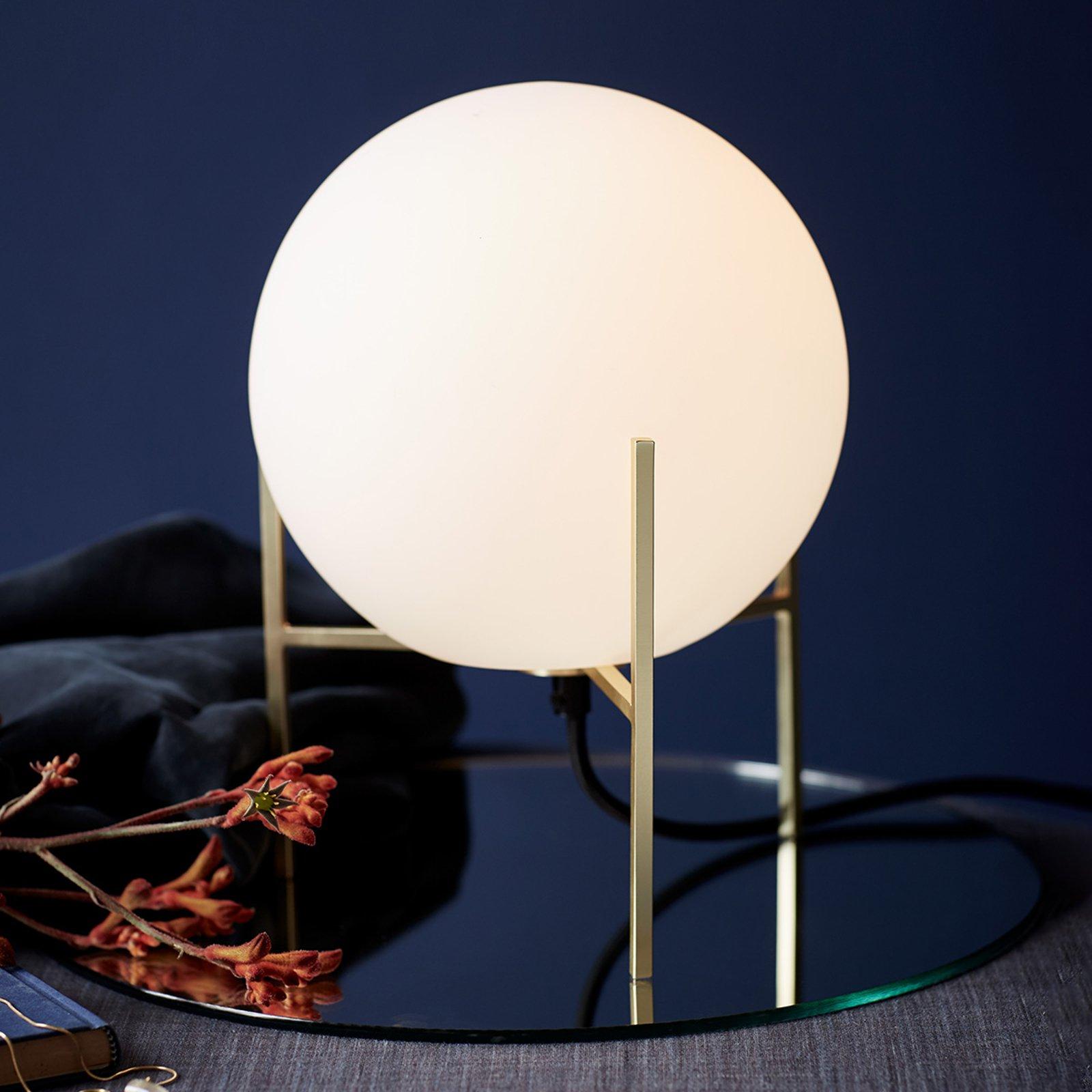 Alton bordlampe med hvit glasskjerm