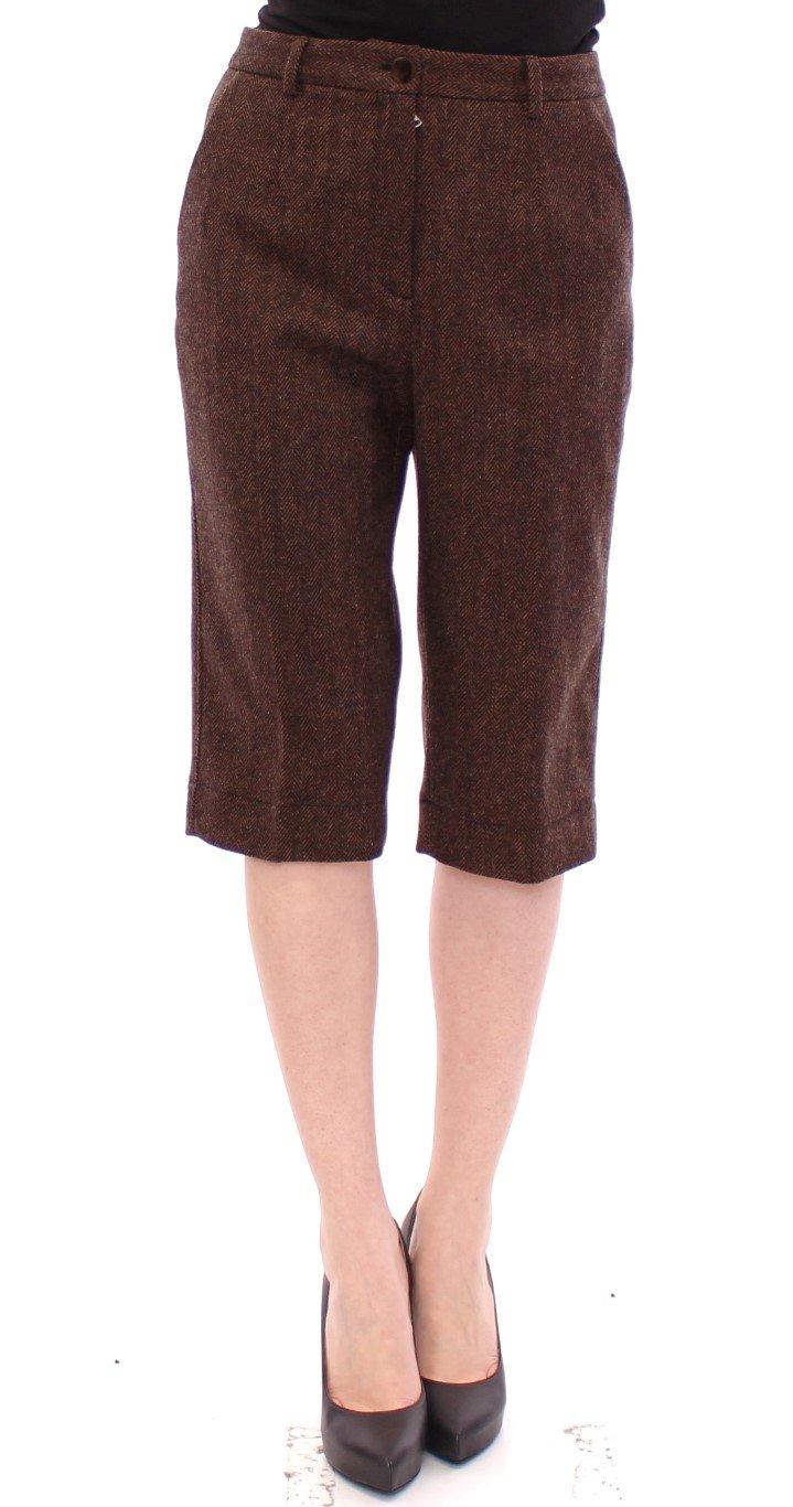Dolce & Gabbana Women's wool Shorts Brown GSS10089 - IT42 M