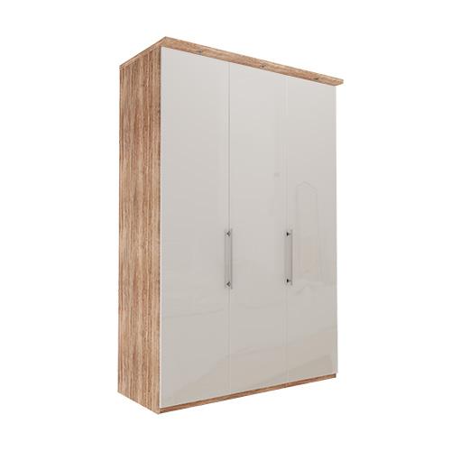 Garderobe Atlanta - Lys rustikk eik 150 cm, 236 cm, Med gesims