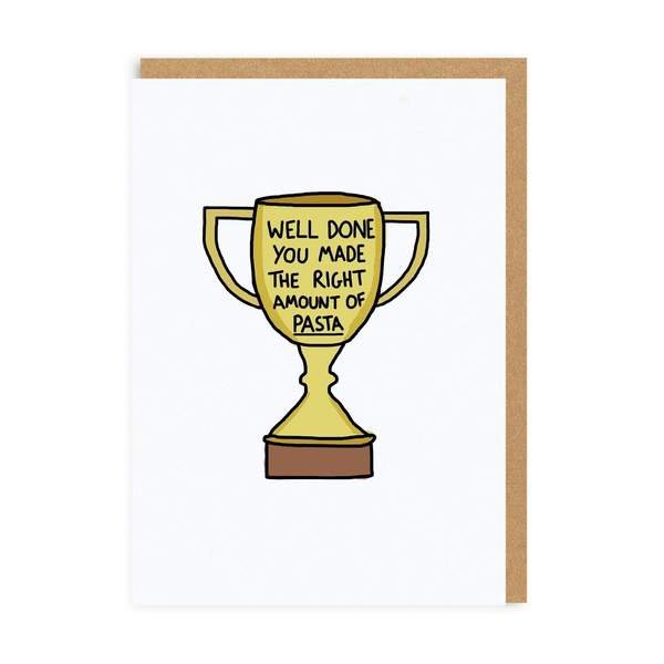 Right Amount Of Pasta Greeting Card