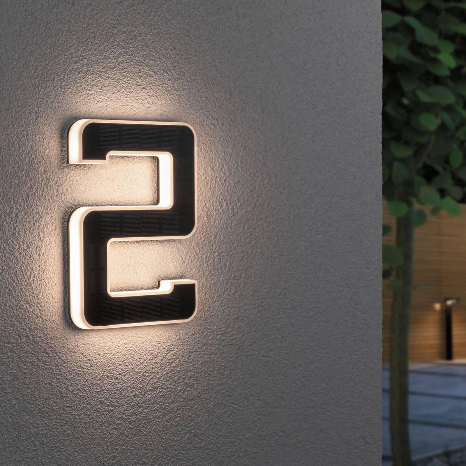 Paulmann aurinkokäyttöinen LED-talonnumero 2