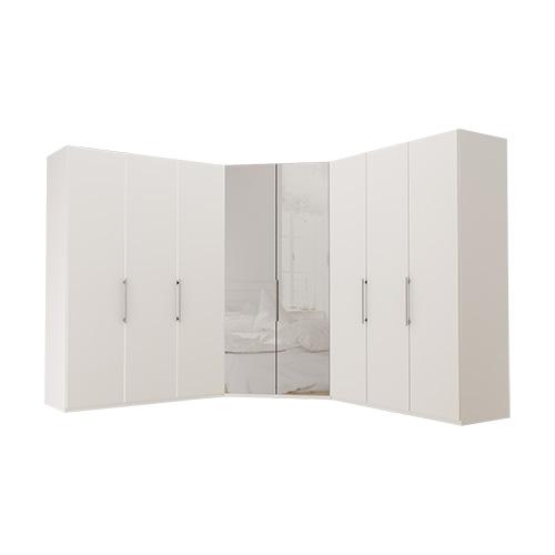 Garderobe Atlanta - Hvit 150 + walk-in + 150, 216 cm, Hvit