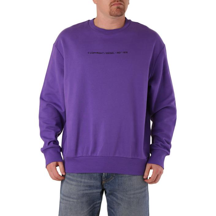 Diesel Men's Sweatshirt Purple 294081 - purple L