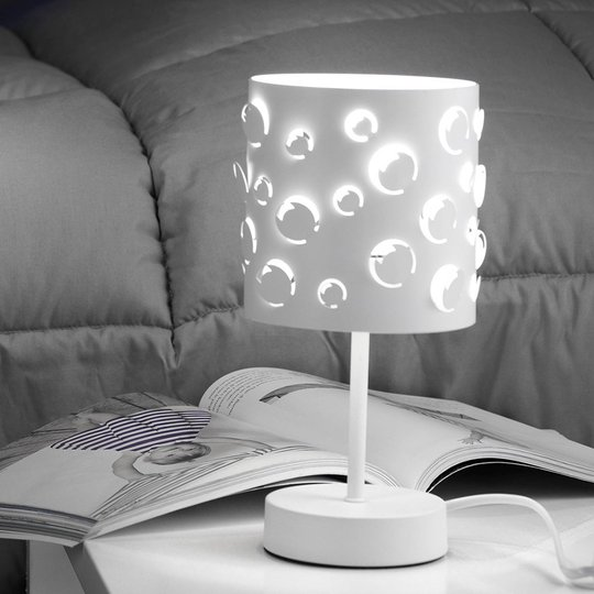 Bollicine bordlampe med laserskåret skjerm
