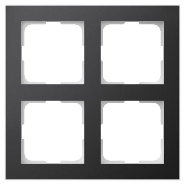 Elko EKO06348 Kombinasjonsramme svart/aluminium 2 x 2 rom
