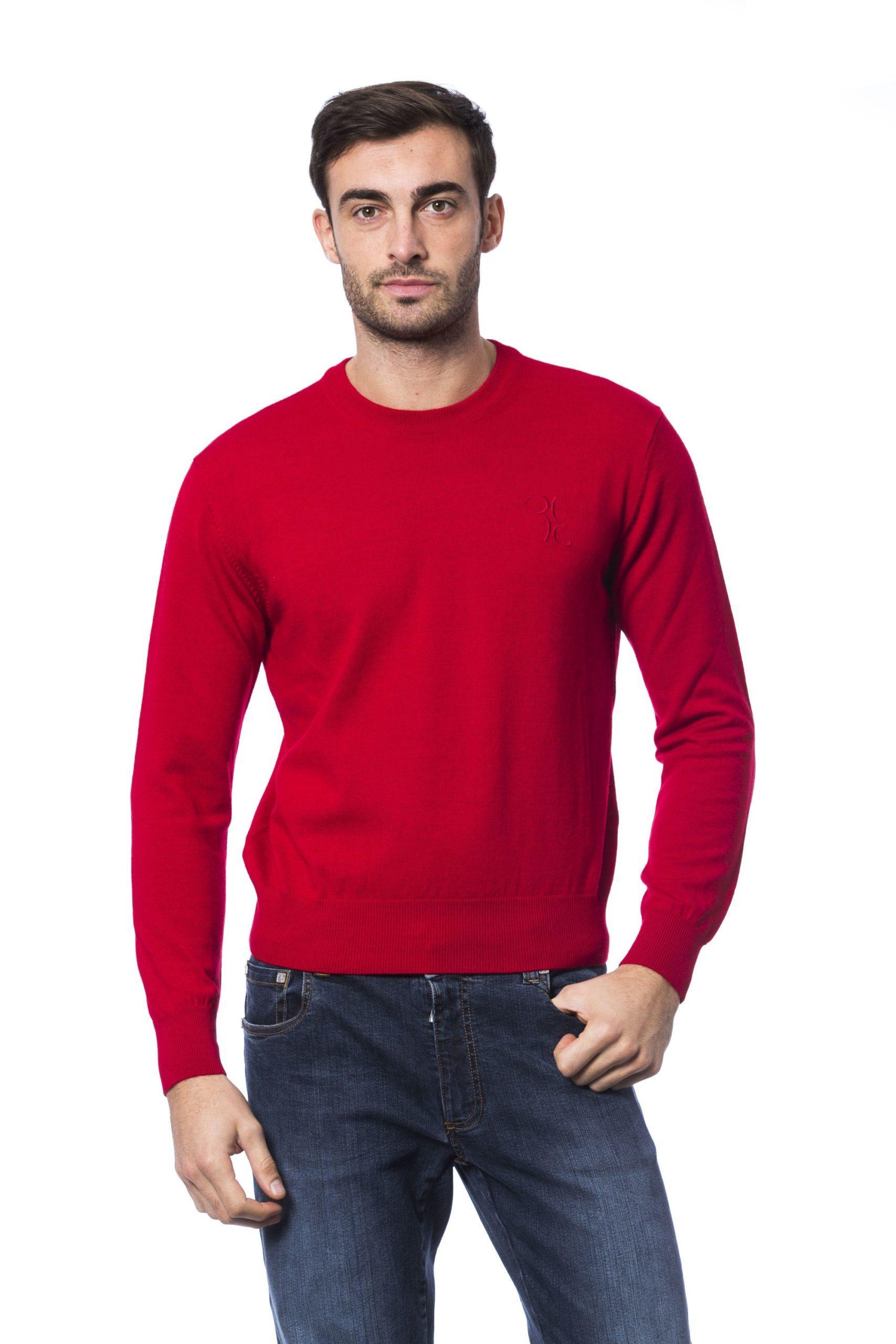 Billionaire Italian Couture Men's Rosso Sweater Red BI1271808 - M