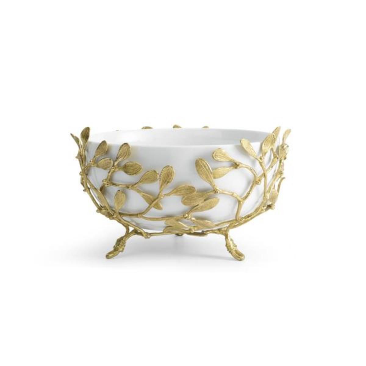 Michael Aram I Mistletoe Porcelain Serving Bowl