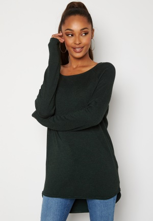 ONLY Mila Lacy L/S Long Pullover Green Gables M