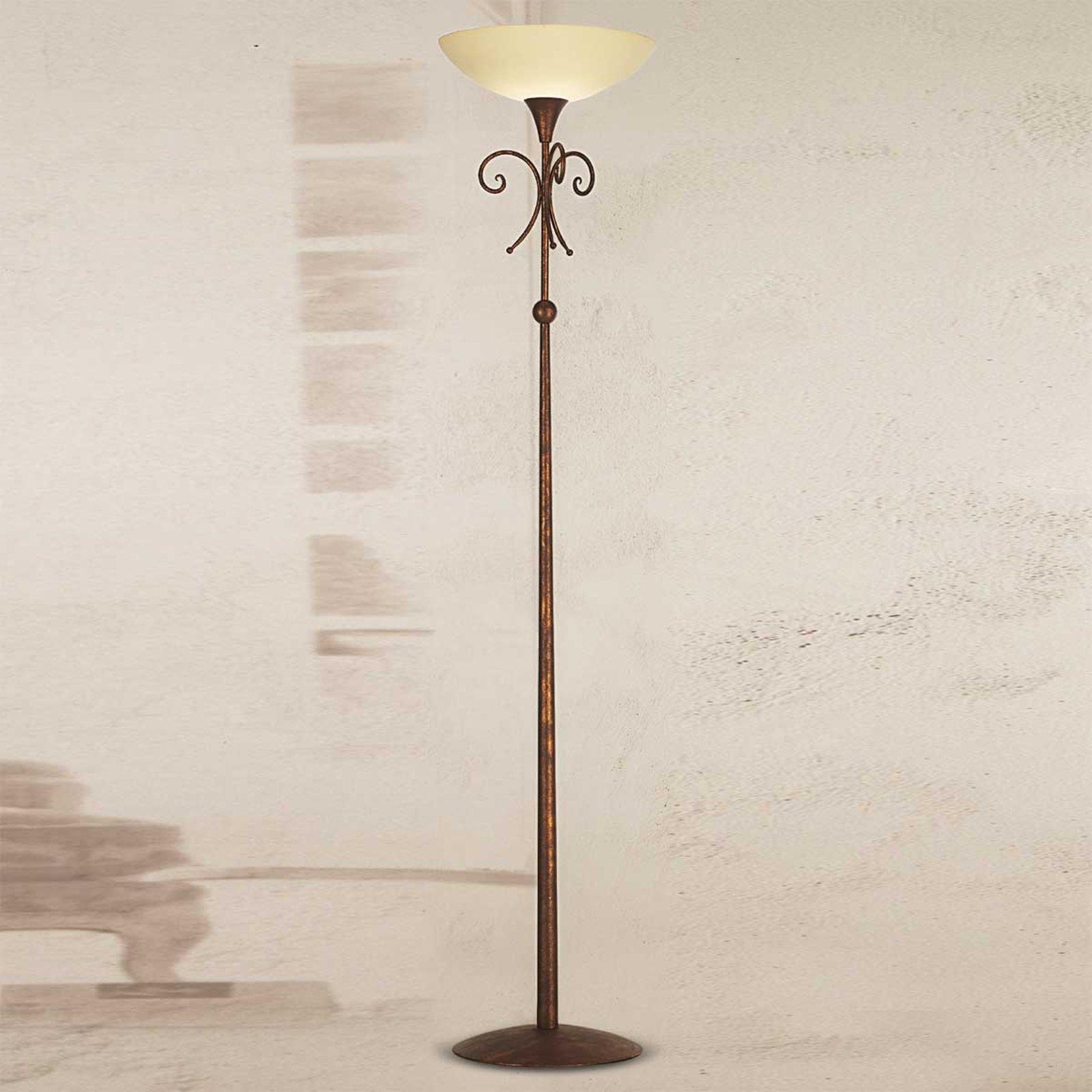 Antikkbrun stålampe Federico