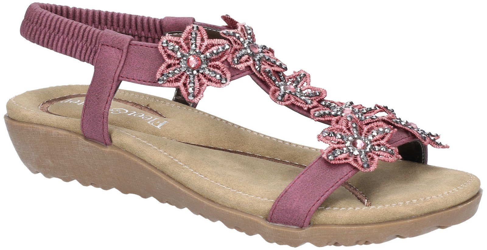 Fleet & Foster Women's Magnolia Elastic Sandal Various Colours 28279 - Plum 3
