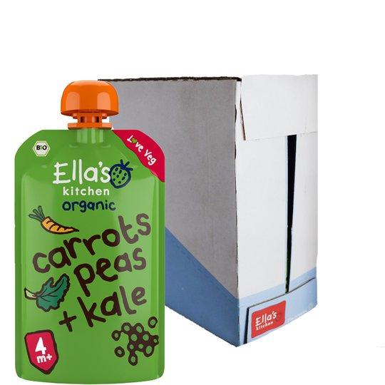 "Eko Hel låda Barnmat ""Carrots, Peas & Kale"" 7 x 120g - 53% rabatt"