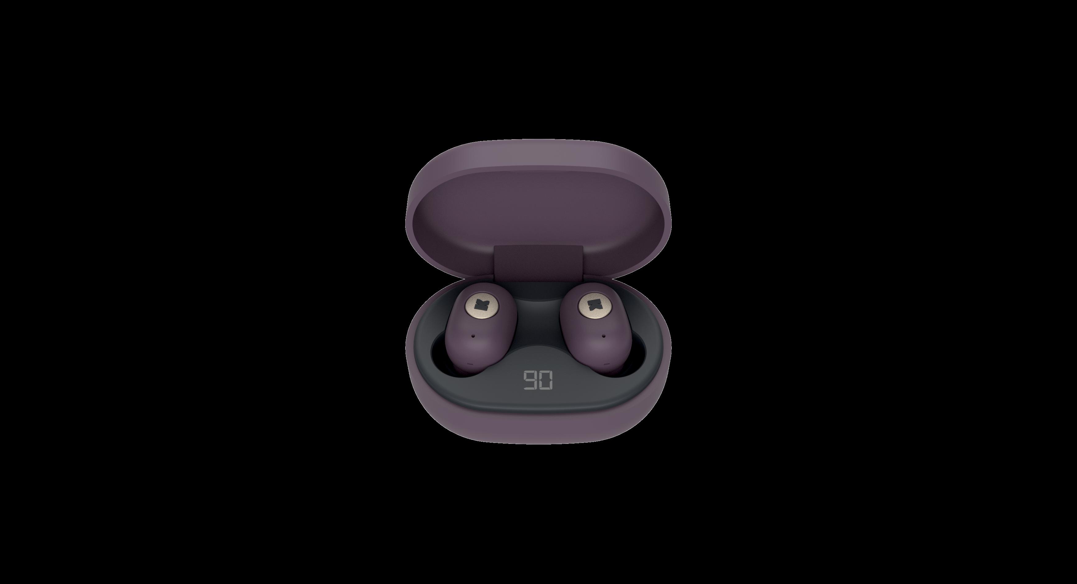 KreaFunk - aBEAN In-Ear Bluetooth Headphones - Urban Plum (KFLP05)