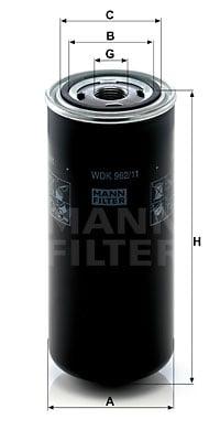 Polttoainesuodatin MANN-FILTER WDK 962/11