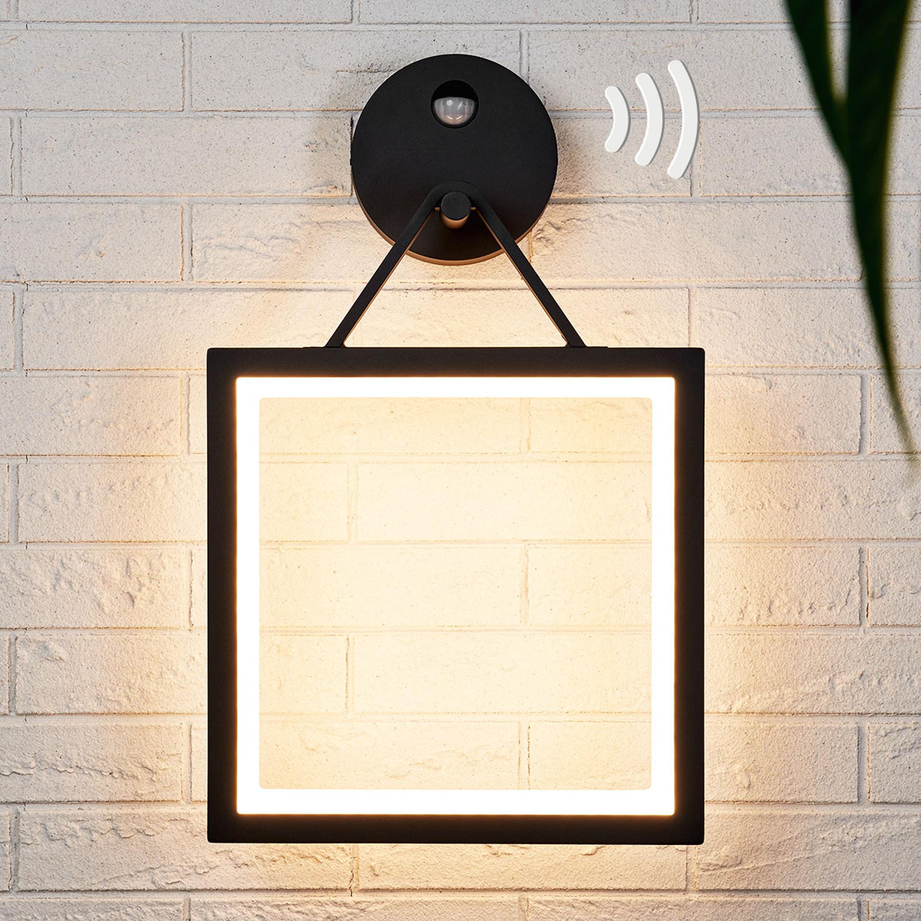 Kulmikas LED-seinälamppu Mirco liiketunnistemella