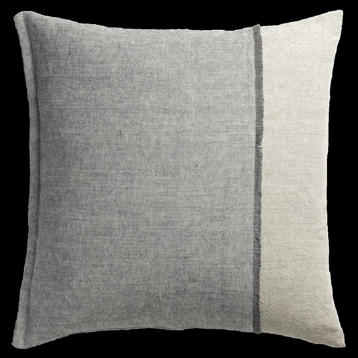 de Le Cuona | Haiku Panel Cushion With Fringe Detail Salt/Boulder