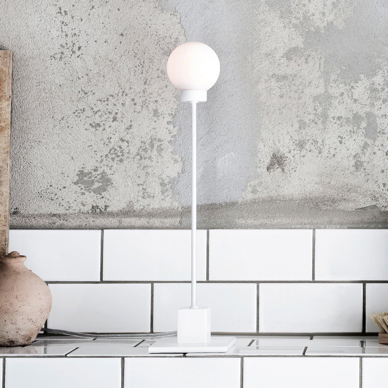 Northern Snowball bordlampe, hvit