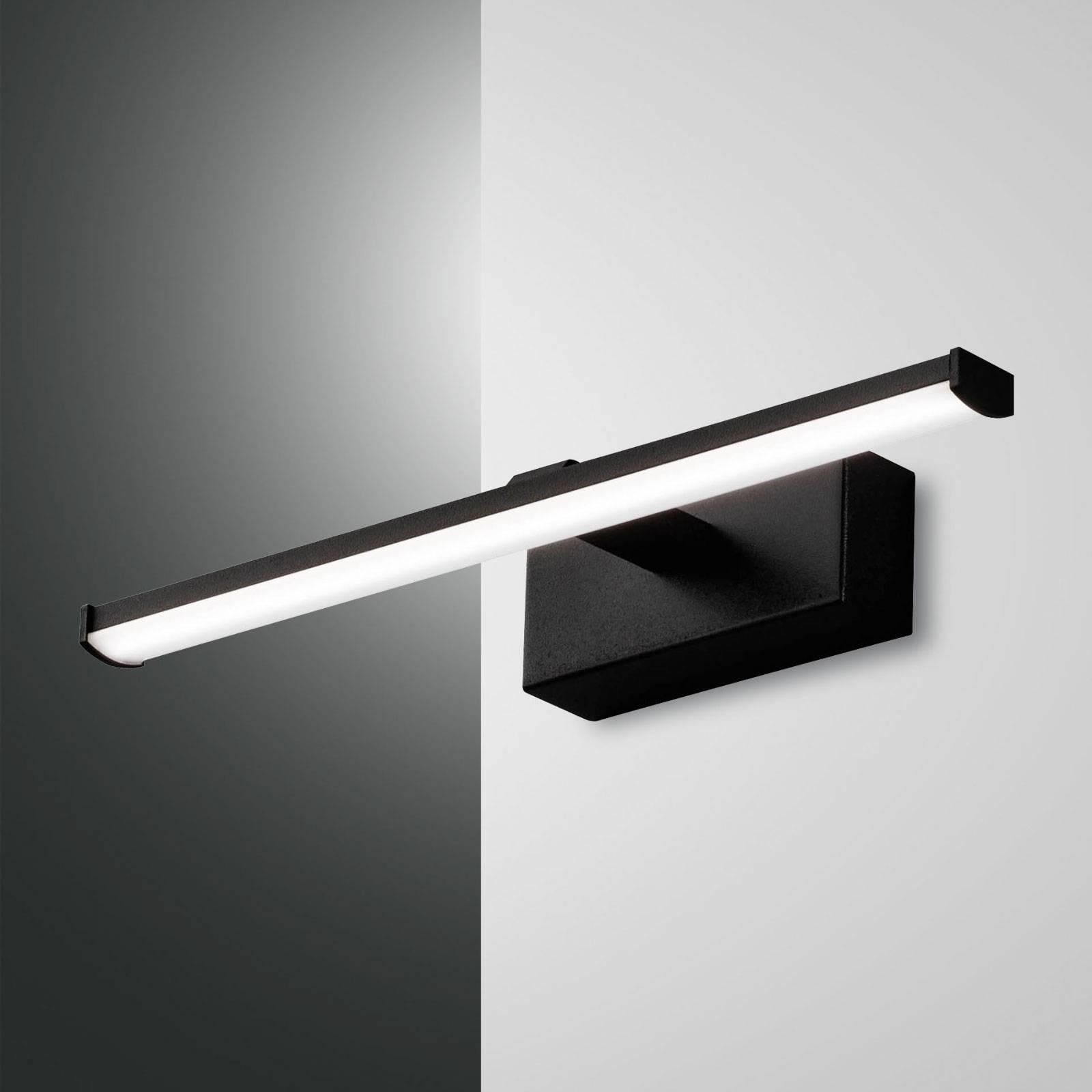 LED-seinävalaisin Nala, musta, leveys 30 cm