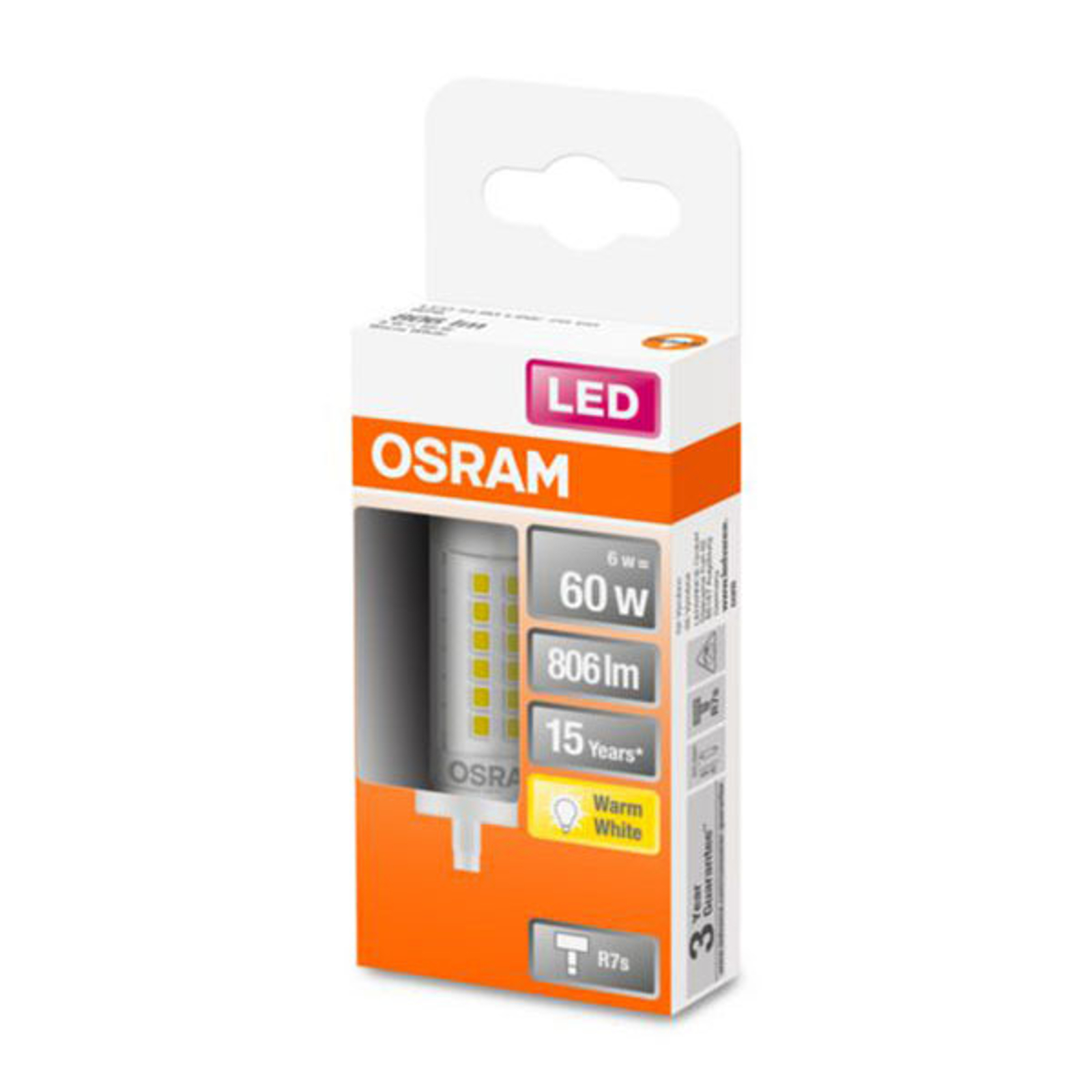 OSRAM-LED-lamppu R7s 6W 2 700 K