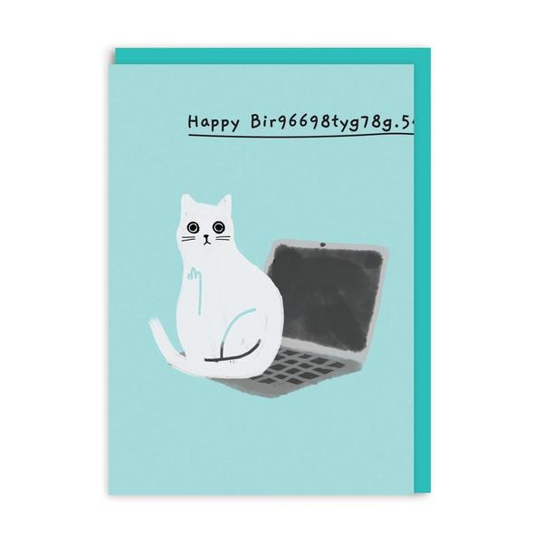 Happy Bir9669.. Laptop Birthday Greeting Card