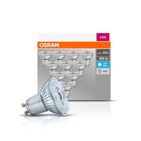 OSRAM LED-reflektor GU10 4,3W 4000 K 350lm 10er