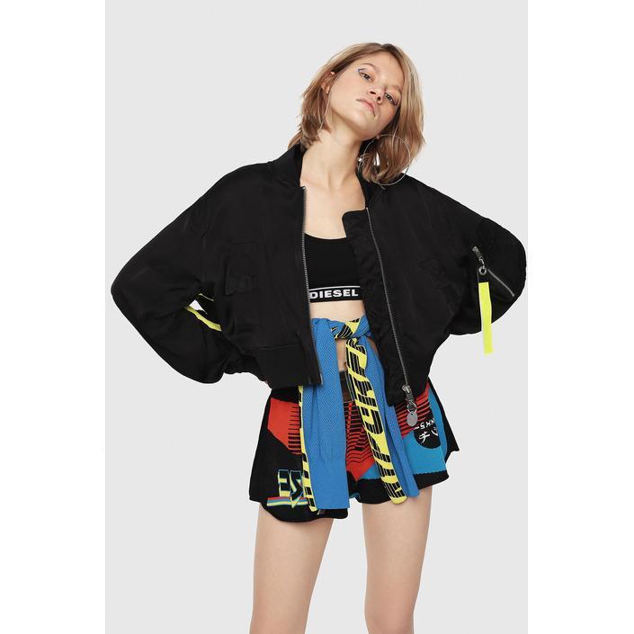 Diesel Women's Jacket Black 320390 - black XL