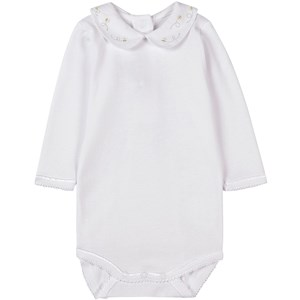 Bonpoint Embroidered Baby Body Vit 1 mån