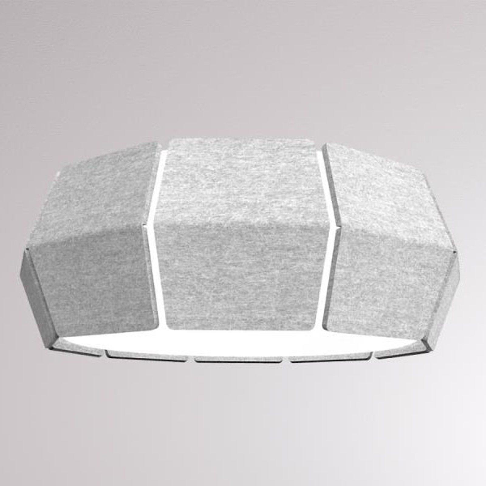 LOUM Decafelt LED-taklampe Ø 54 cm grå