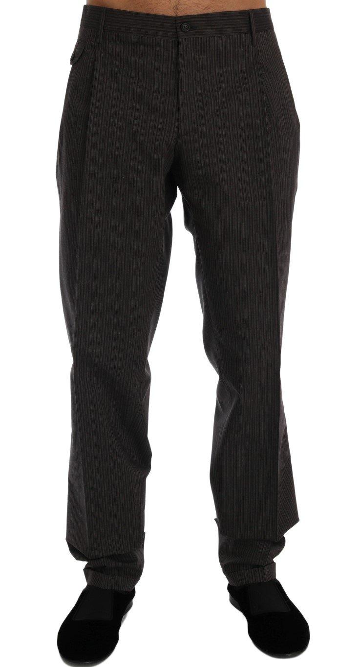 Dolce & Gabbana Men's Striped Cotton Trouser Brown PAN60319 - IT54   XL