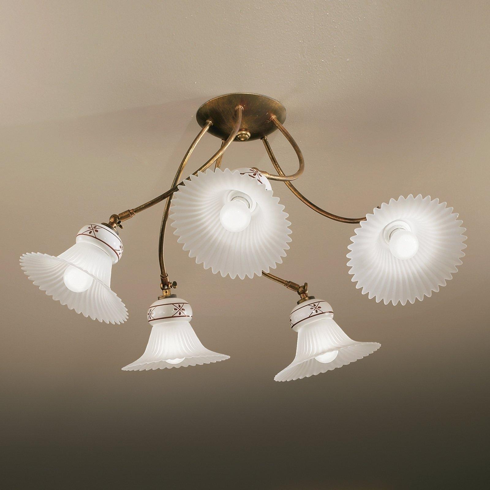 Taklampe med fem lys