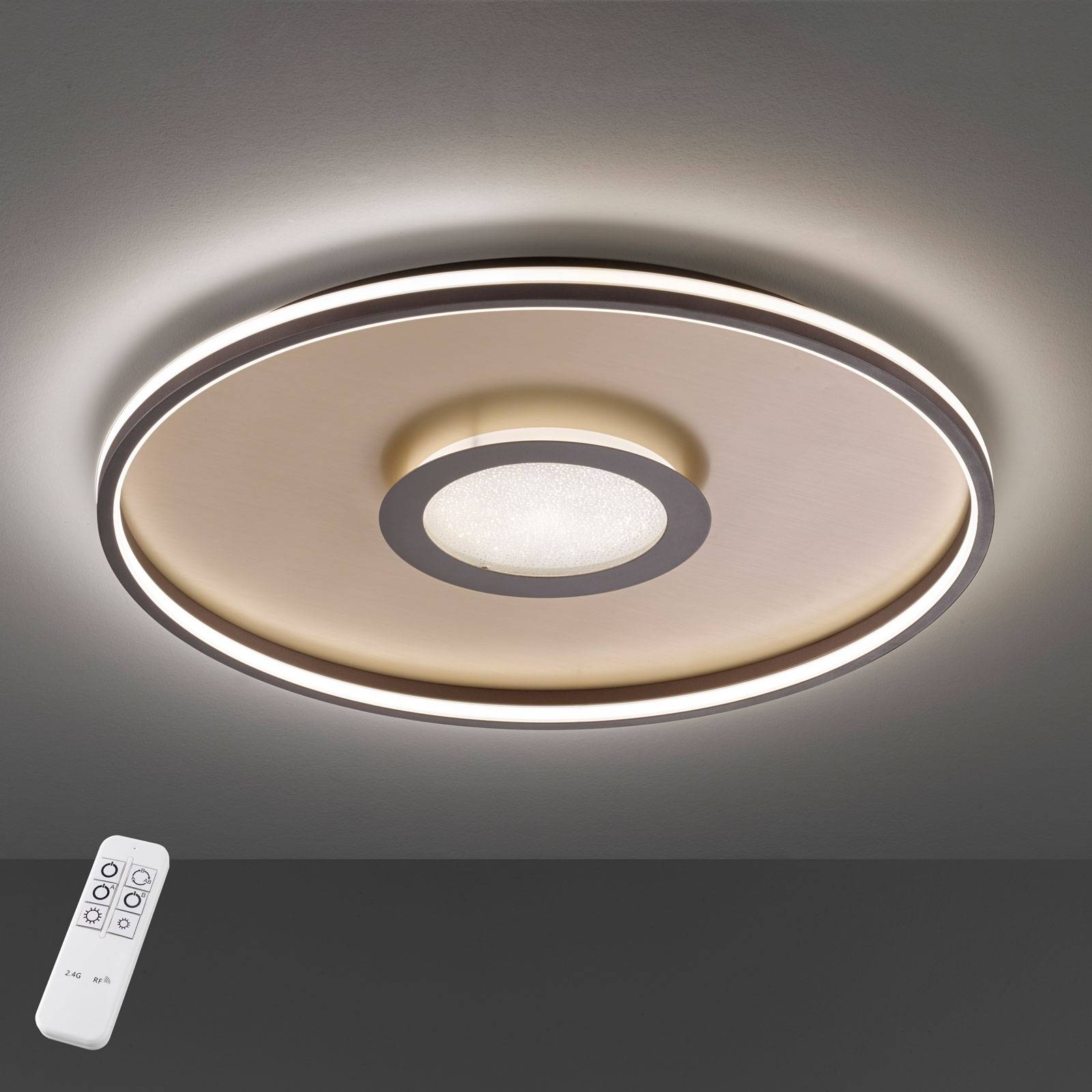 Bug-LED-kattovalaisin, pyöreä, ruoste, 60 cm