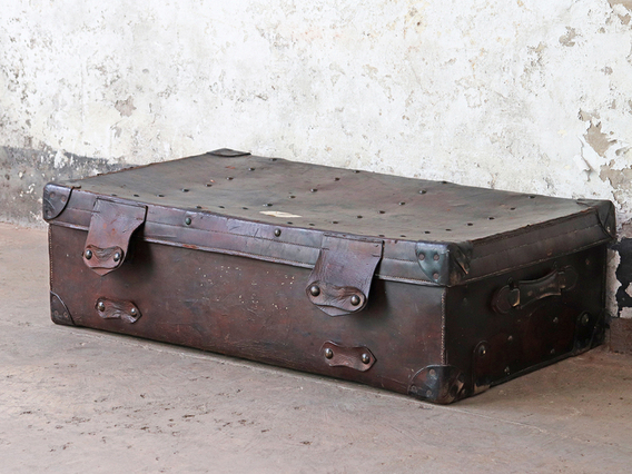 Leather Trunk Large