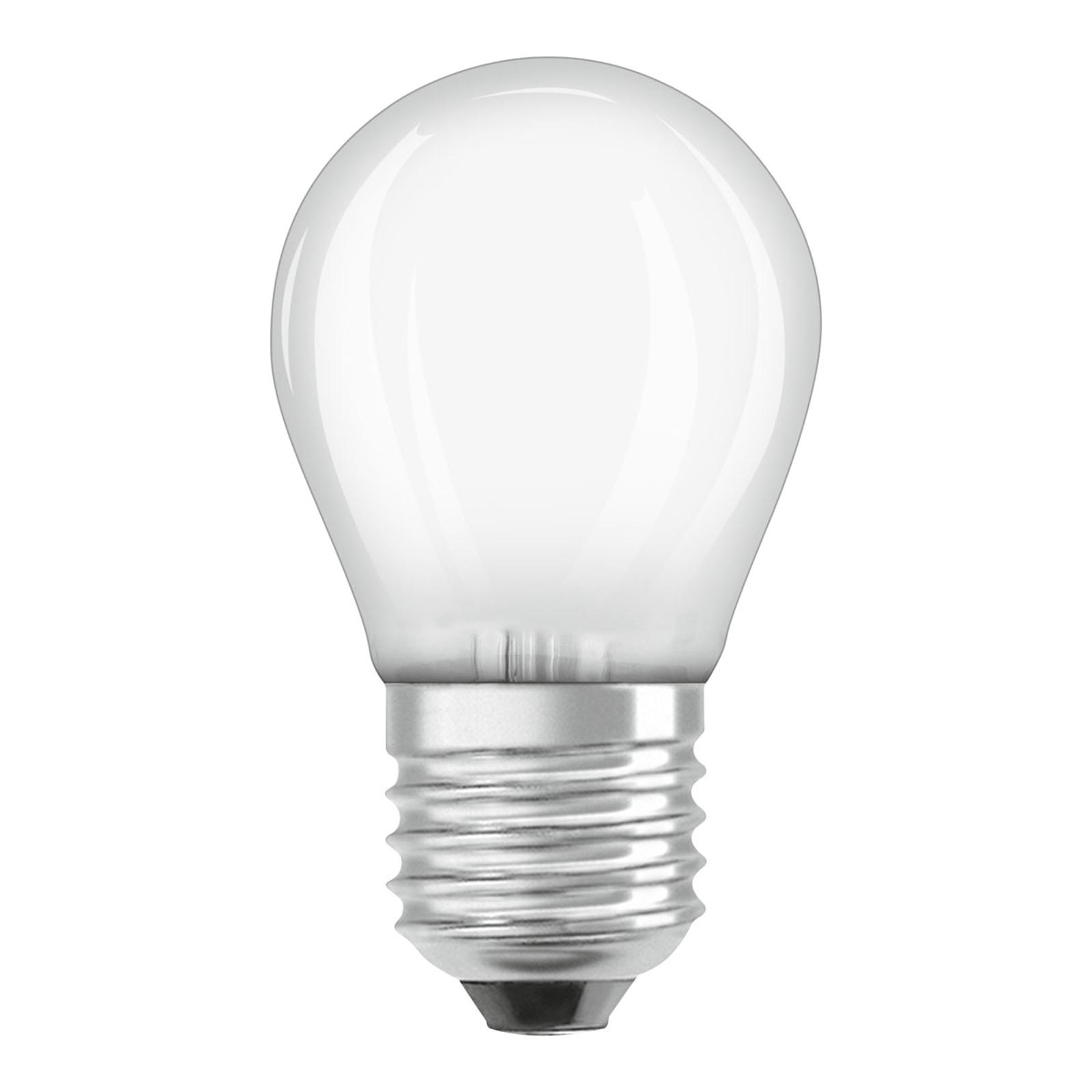 OSRAM-LED-lamppu E27 4W Classic P 4 000 K matta