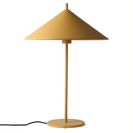 metal triangle table lamp L matt ochre