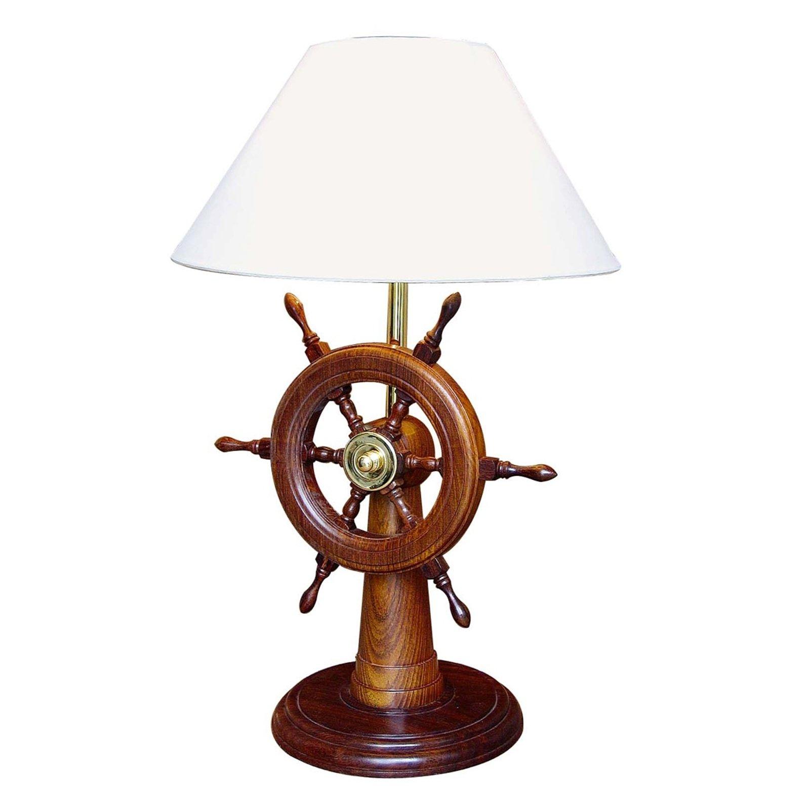 HELMSTAND - bordlampe med ror av tre