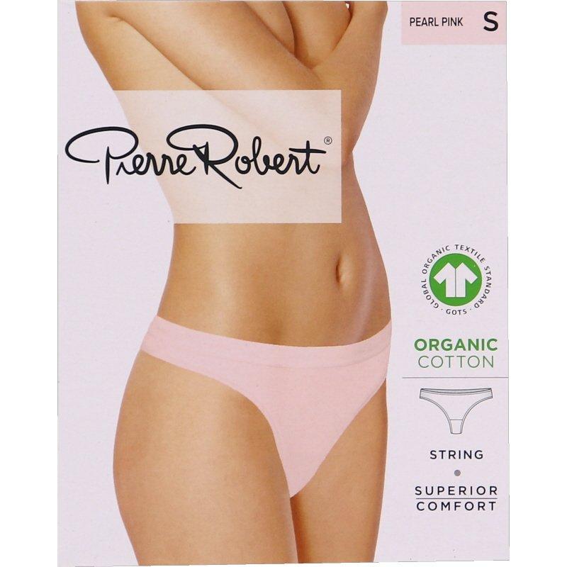Luomupuuvillaiset stringit pearl pink, koko S - 78% alennus