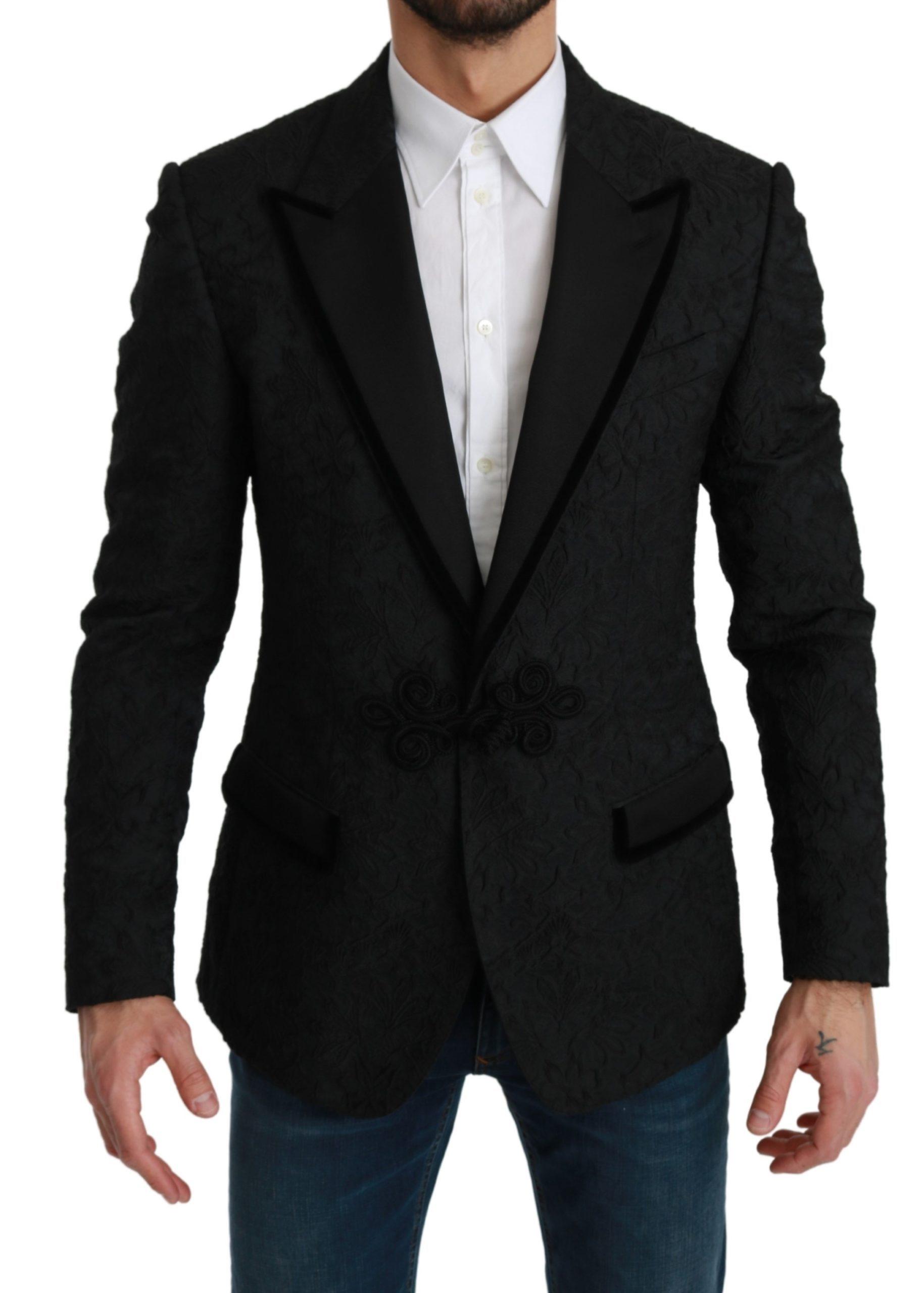 Dolce & Gabbana Men's Torero Slim Fit Blazer Black KOS1779 - IT54   XL