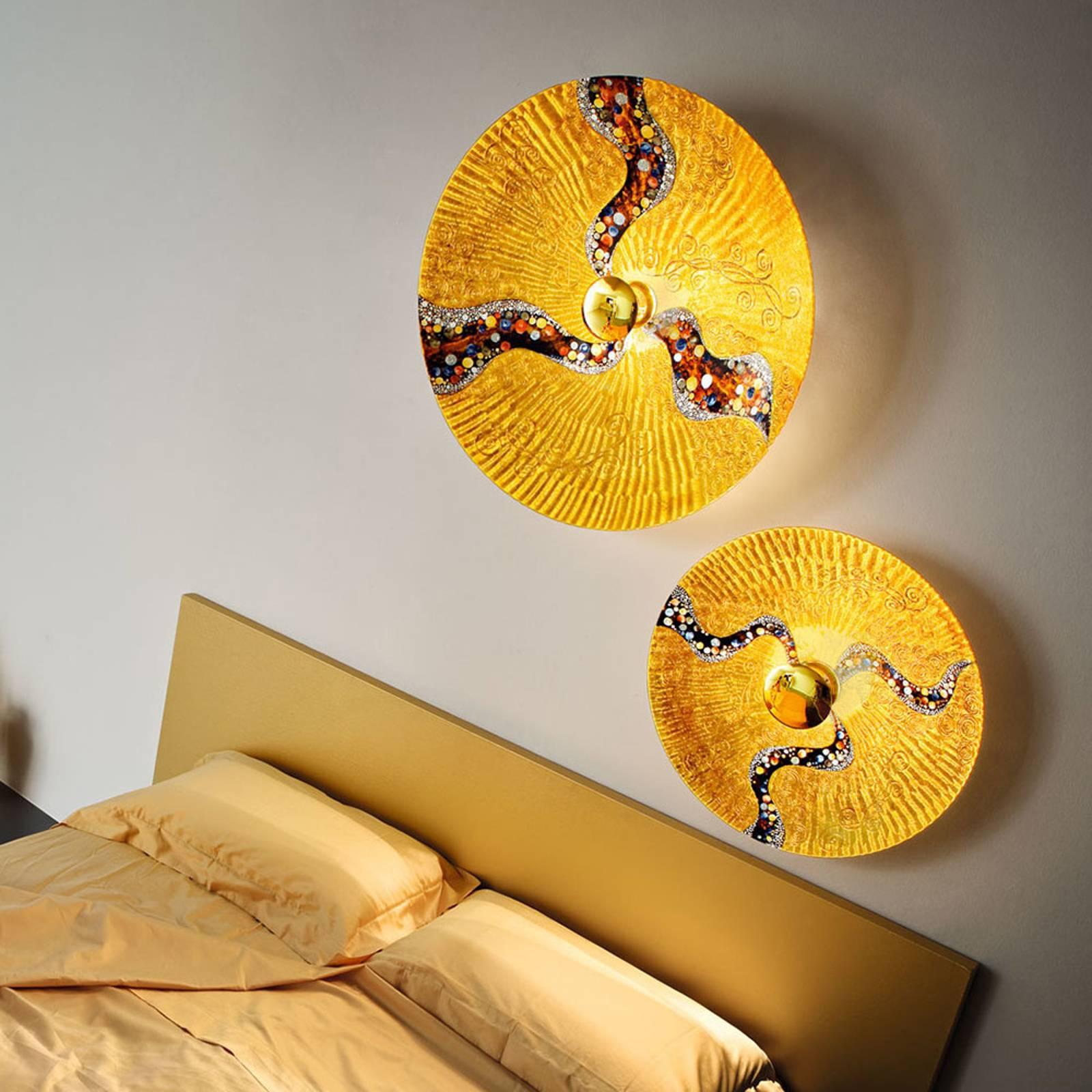 KOLARZ Luna Kiss Gold -seinävalaisin 24 k, Ø 62 cm