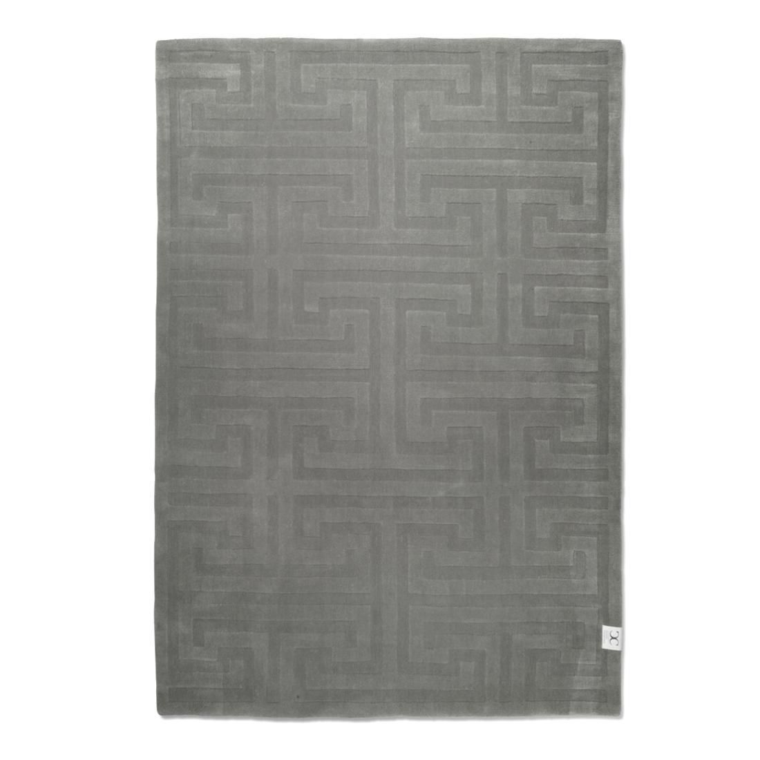 Silvergrå ullmatta KEY WOOL 250 x 350 cm, Classic Collection