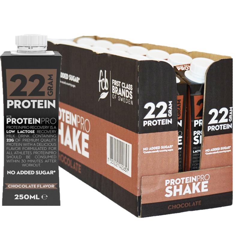 """Hel Låda Proteinshake """"Chocolate"""" 14 x 250ml - 56% rabatt"""