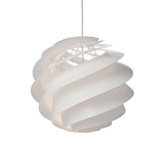 LE KLINT Swirl 3 Medium -riippuvalaisin, valkoinen