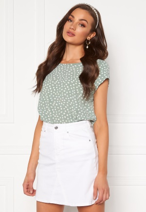 ONLY Vic SS Aop Top Chinois Green/ Dot 34