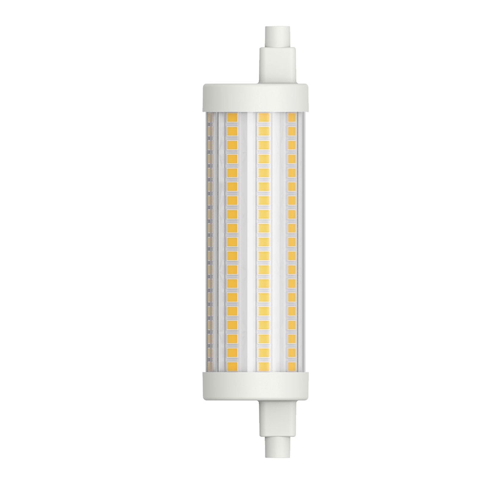 LED-putkilamppu R7s 117,6 mm 15W lämmin valkoinen