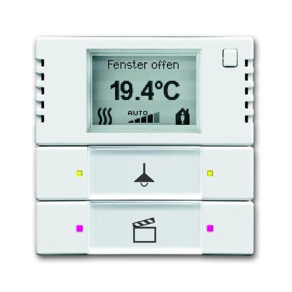 ABB 6134-0-0334 Termostaattinäyttö 2-napainen valkoinen