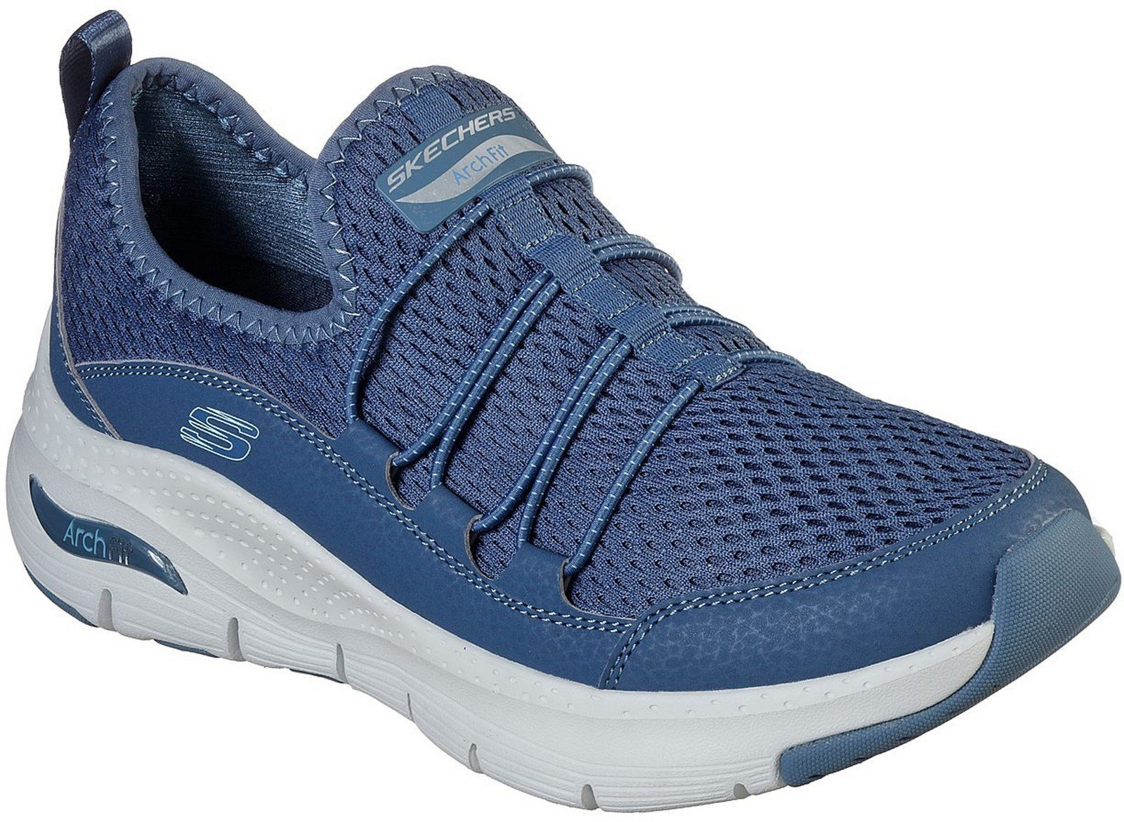 Skechers Women's Arch Fit Lucky Thoughts Sports Shoe Various Colour 30318 - Navy 3