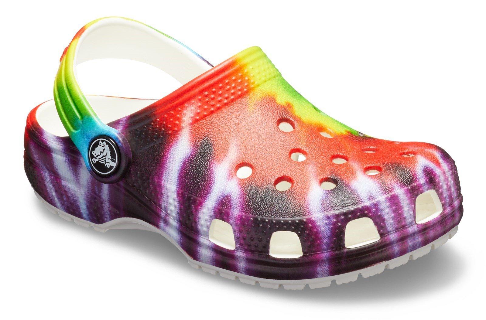 Crocs Kid's Classic Tie Dye Graphic Clog Sandal Multicolor 31875 - Multi 4