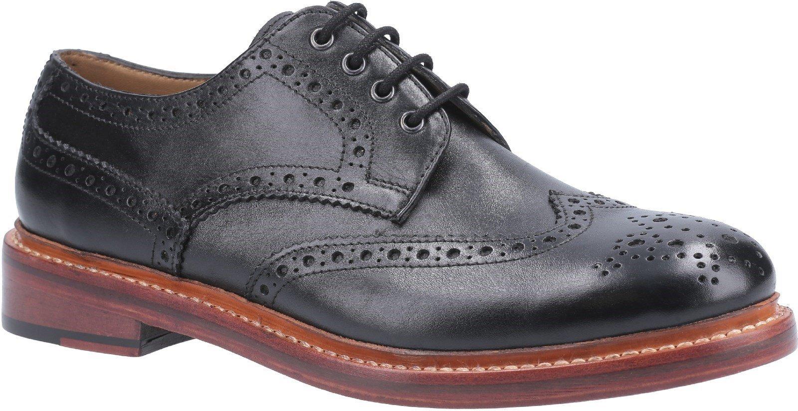 Cotswold Men's Quenington Leather Welt Brogue SHoe Various Colours 29256 - Black 7