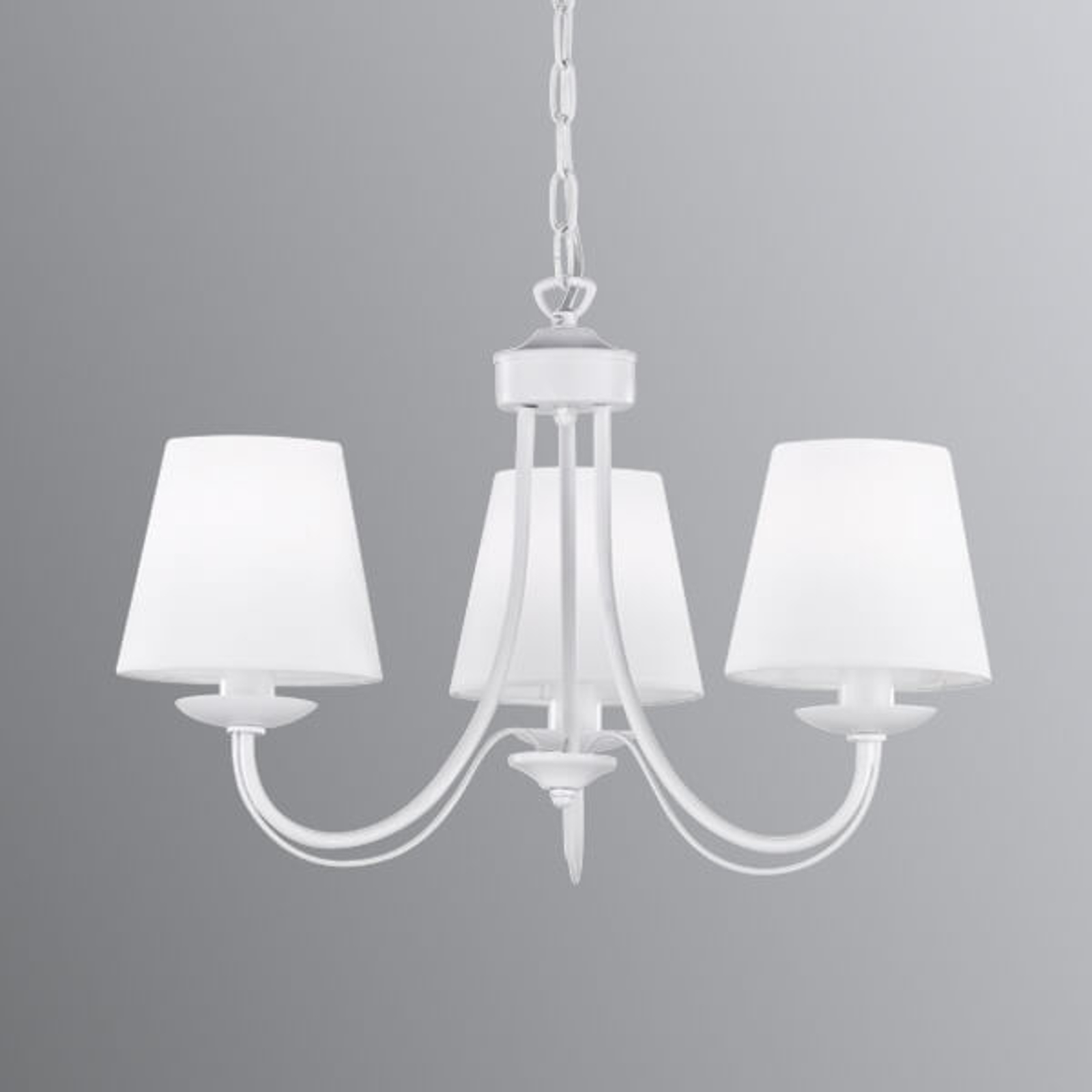 Kattokruunu Cortez, valkoinen, 3-lamppuinen