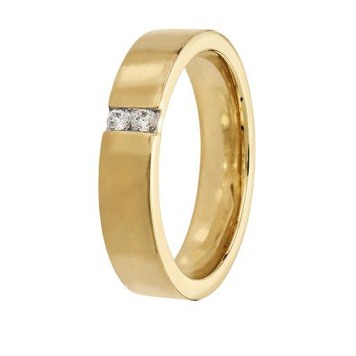 Diamantring i 18K guld, 21.5