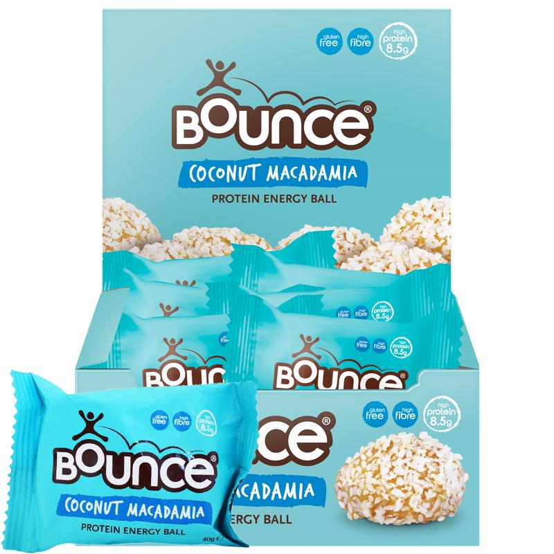 "Laatikollinen ""Energy Balls Coconut & Macadamia"" 12 x 40g - 60% alennus"