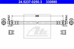 Jarruletku, Taka-akseli, VW, 7H0 611 775